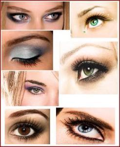 trucco per colore occhi