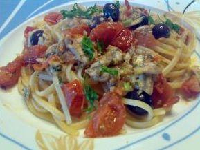 Ricetta siciliana: Spaghetti con le alici (masculini)