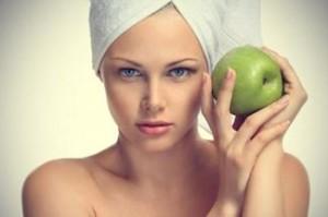 Maschera viso alla mela fai da te